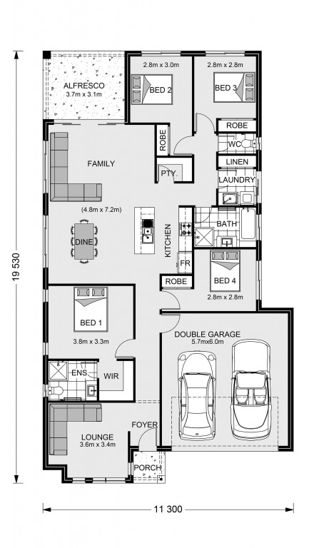 Claremont 195 - Express Series Floorplan