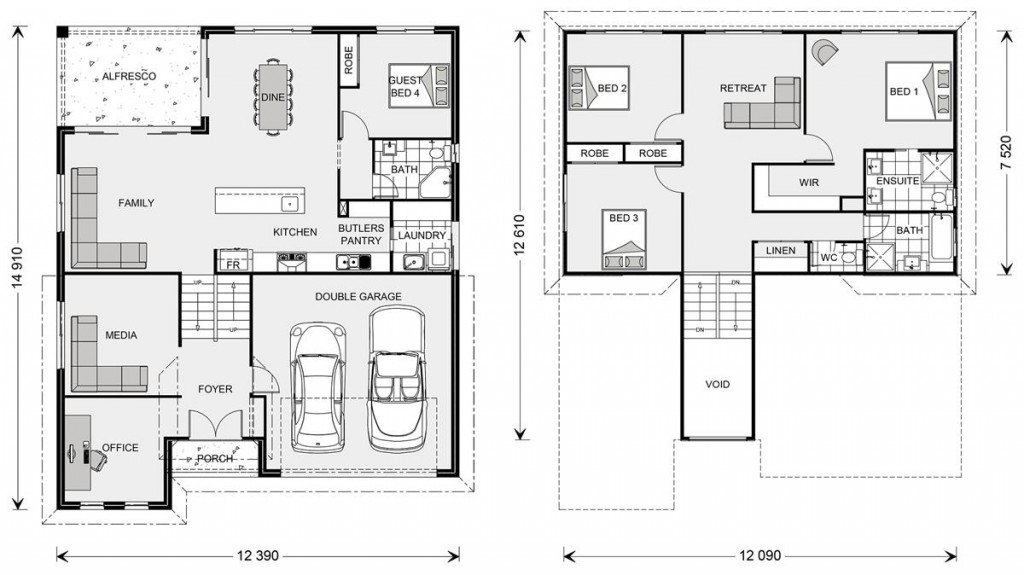 Laguna SL 278 - Split Level Series Floorplan