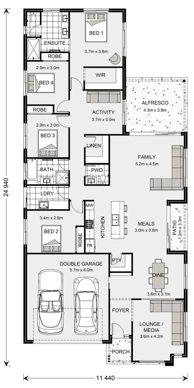 Oceanside 255 - Element Series Floorplan