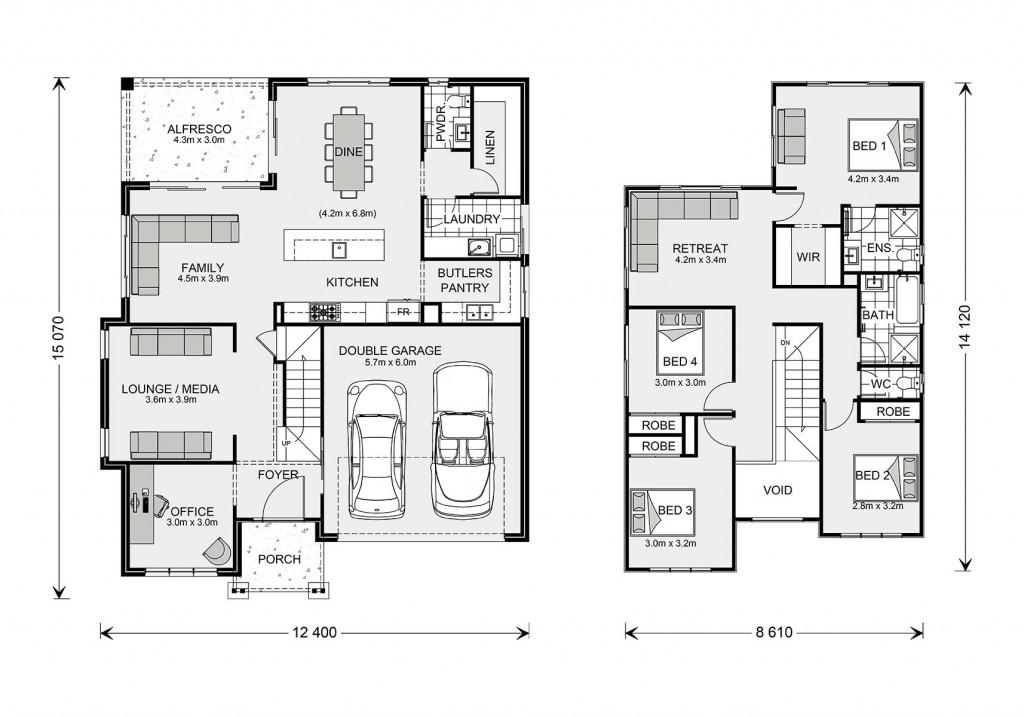 Twin Waters 270 - Element Series Floorplan