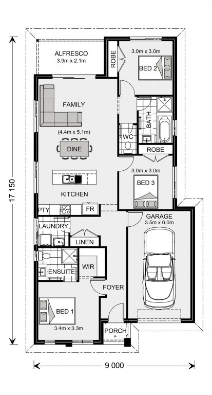 Stonehaven 140 - Express Series Floorplan
