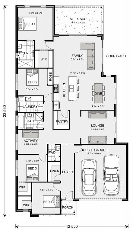 Kimberley 252 - Element Series Floorplan