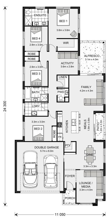 Oceanside 230 - Element Series Floorplan