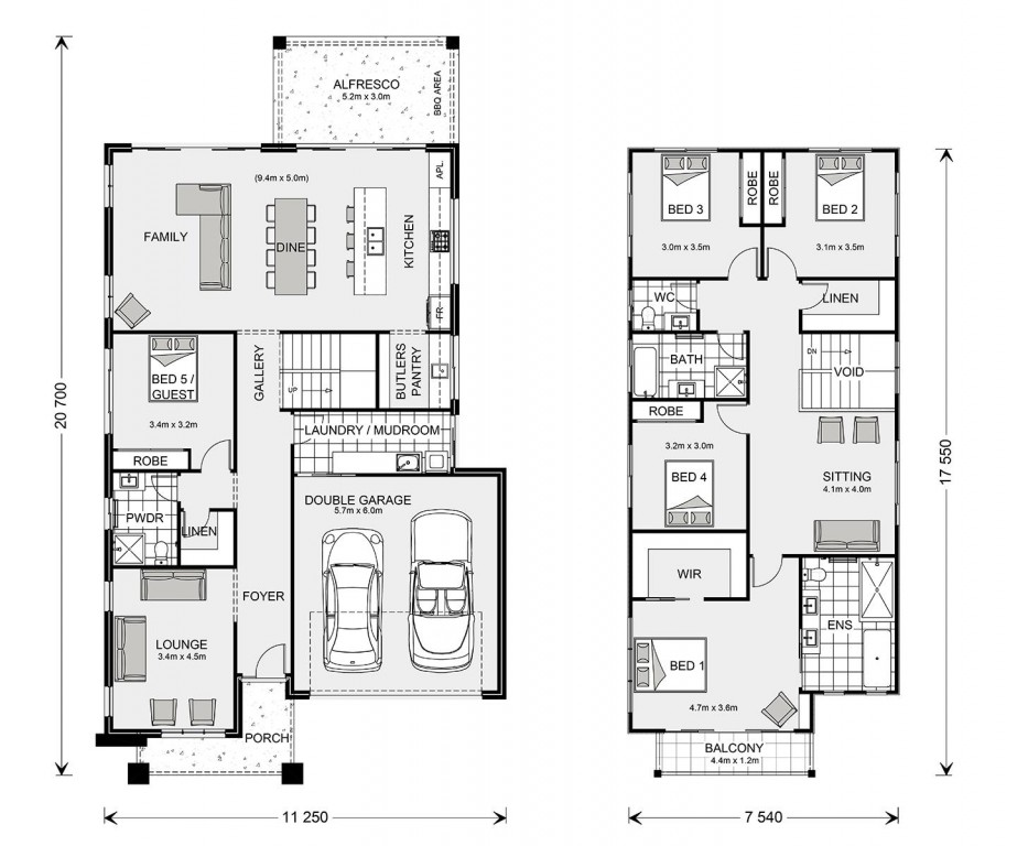 Freshwater 315 - Element Series Floorplan