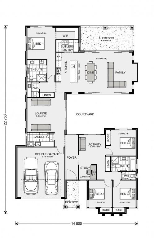 Mandalay 260 - Element Series Floorplan