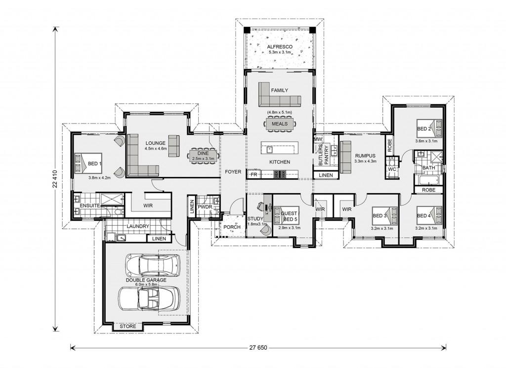 Mansfield 310 - Prestige Series Floorplan