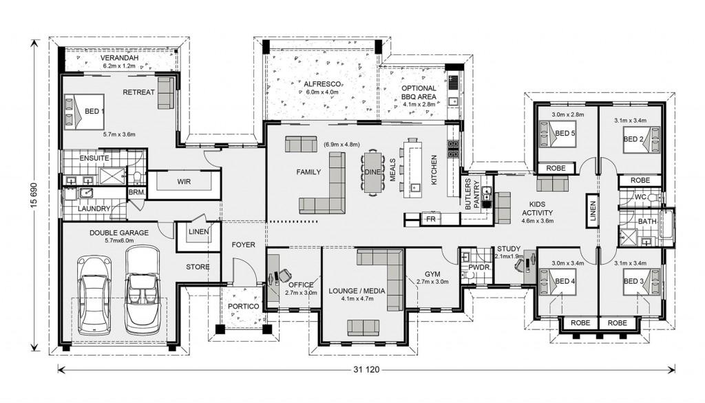 Rochedale 370 - Prestige Series Floorplan