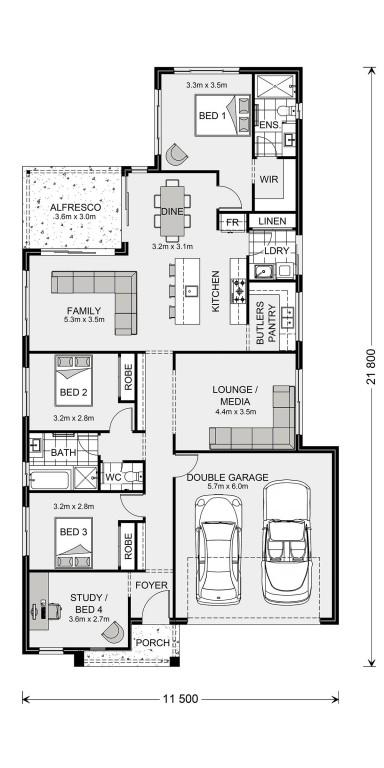 Edgewater 205 - Element Series Floorplan
