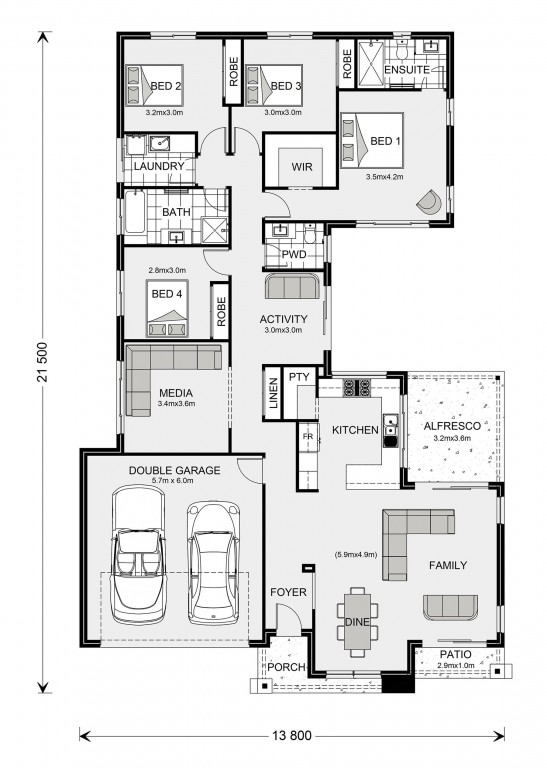 Lakeview 234 Floorplan