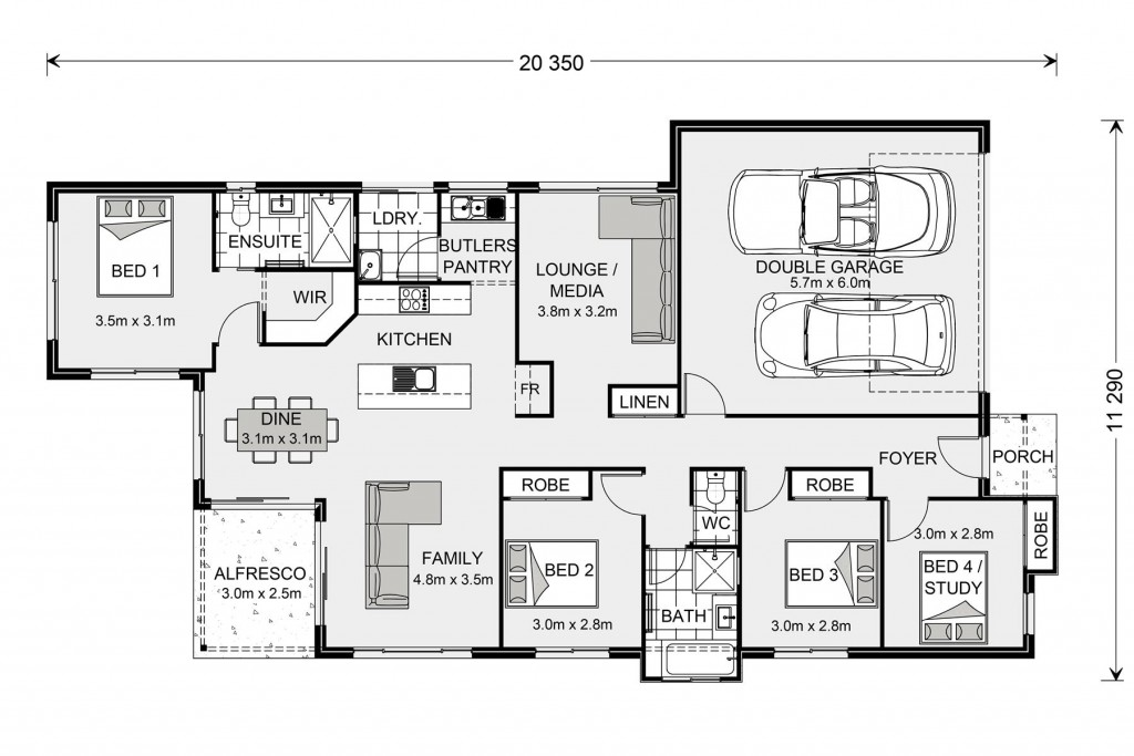 Edgewater 190 - Element Series Floorplan