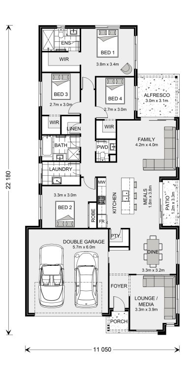 Oceanside 212 Floorplan