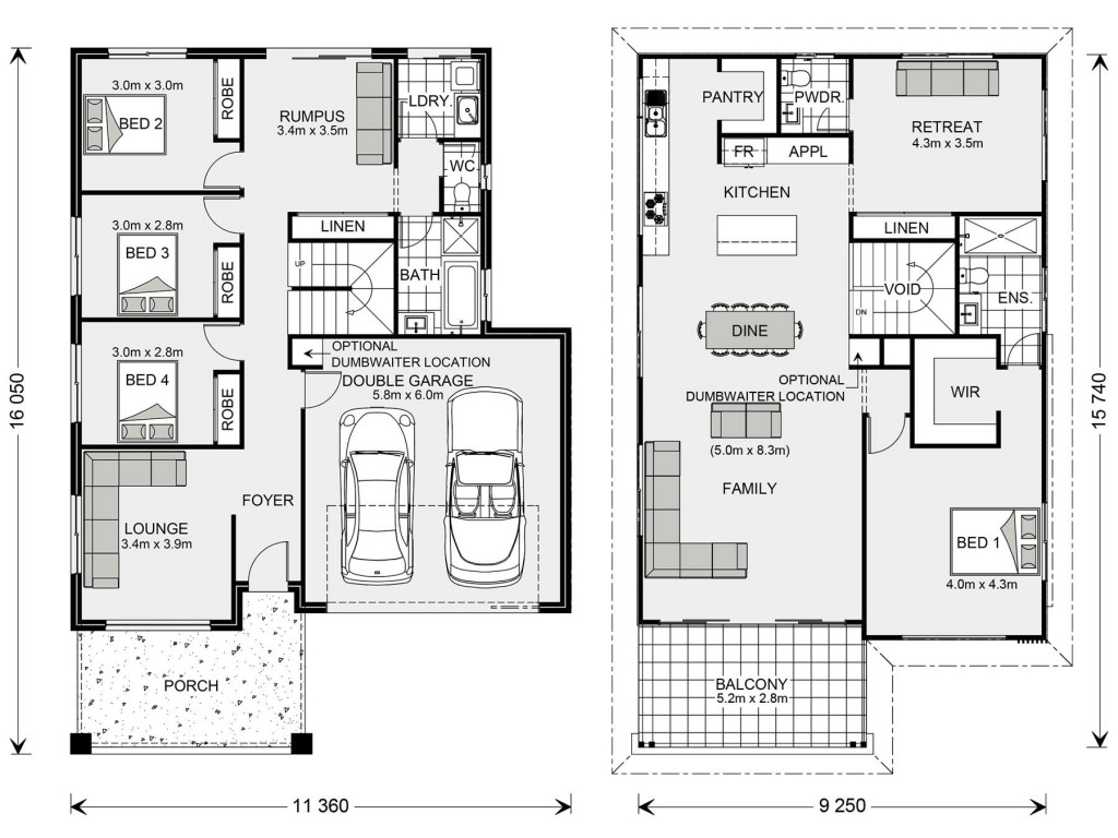 Bermagui 286 - Upper Floor Living Floorplan