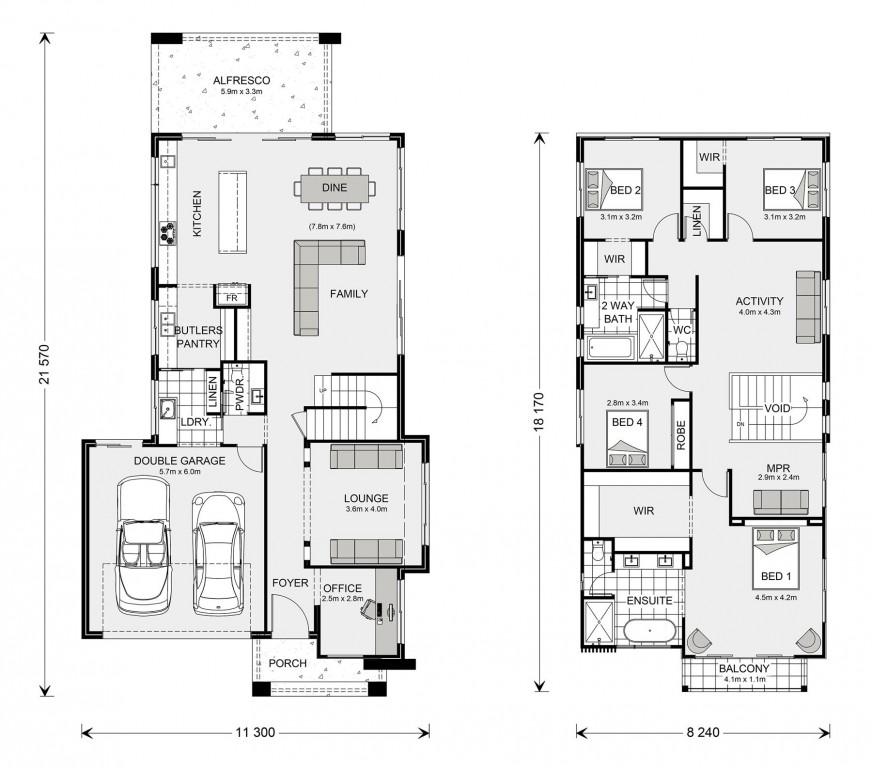 Kingscliff 324 - Element Series Floorplan