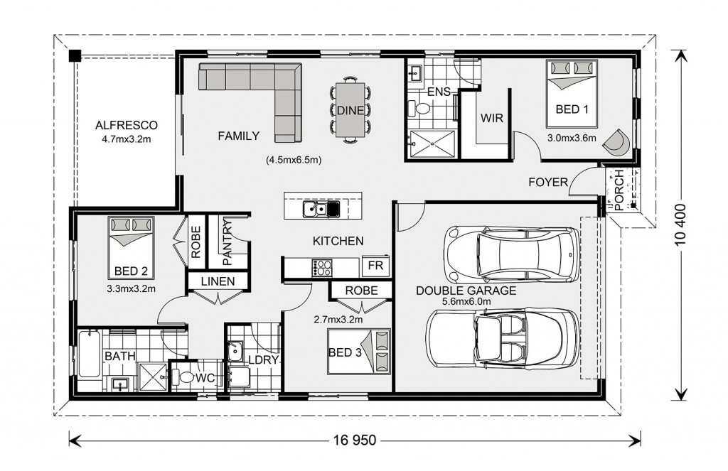 Nova 170 - Express Series Floorplan