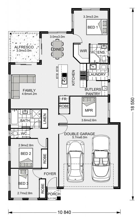 Edgewater 170 - Element Series Floorplan