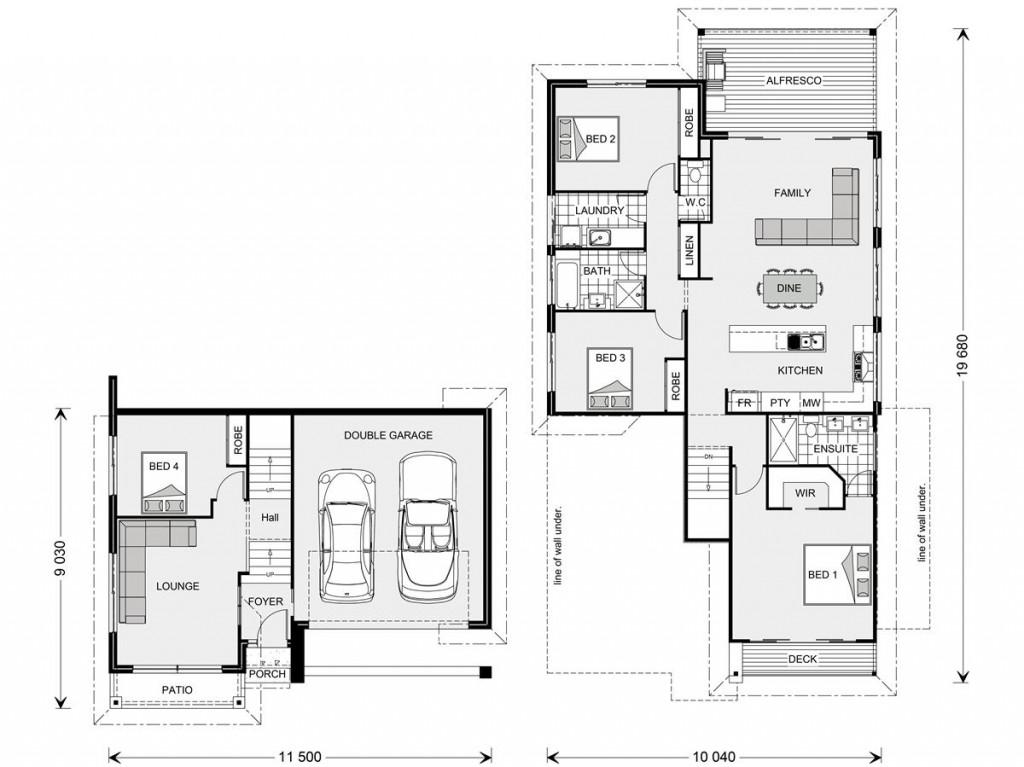 Waterford SL 234 - Split Level Series Floorplan