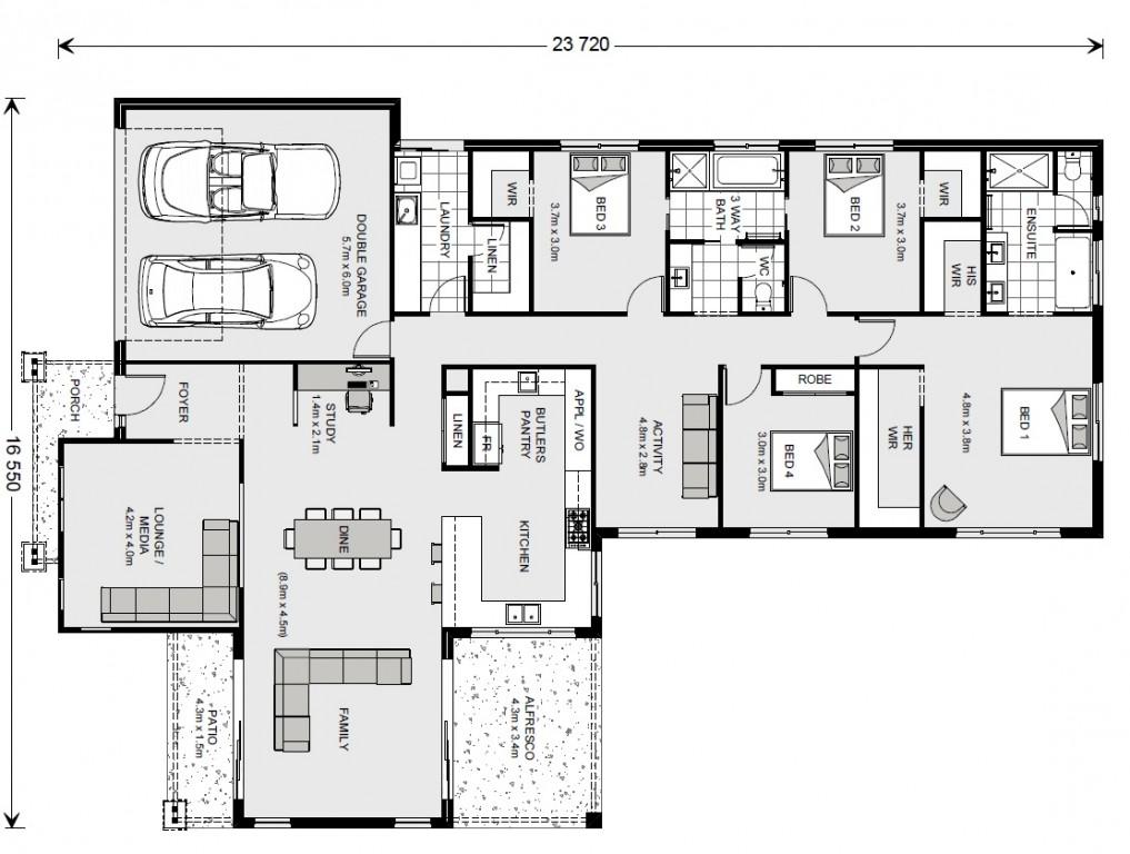 Hamptons - Tailored by Darren Palmer Floorplan