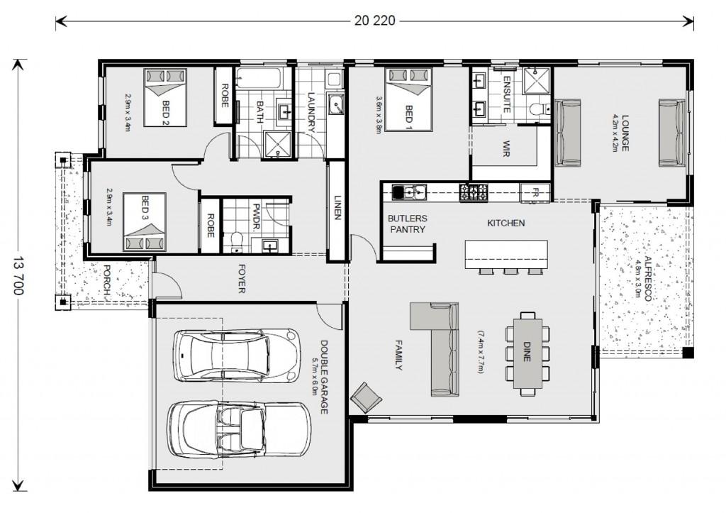 Broadbeach 224 - Element Series Floorplan