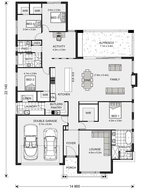 Contemporary Australian Floorplan