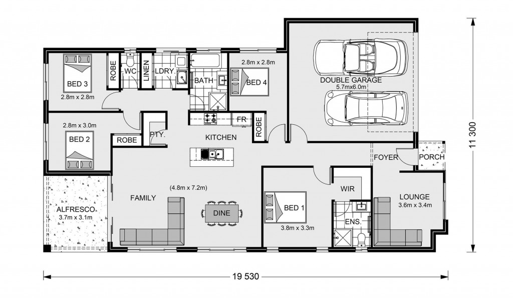 Claremont 195 - Element Series Floorplan
