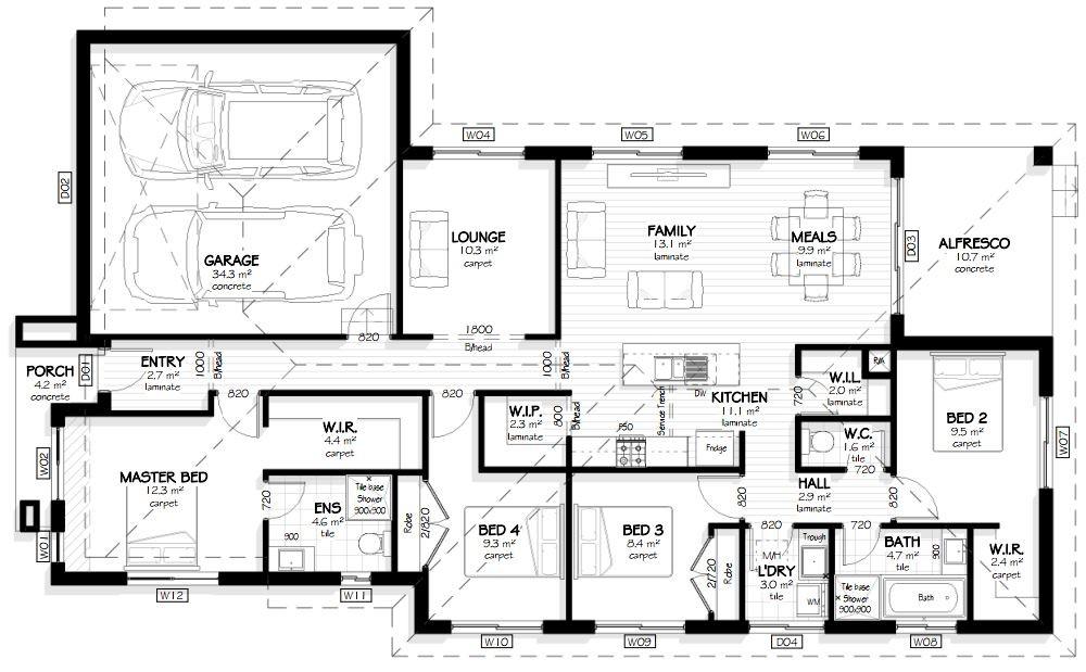 Bridgewater 190 - Element Series Floorplan