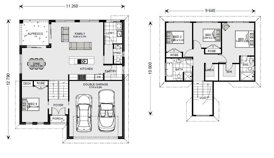 Legana SL 201 - Split Level Series Floorplan