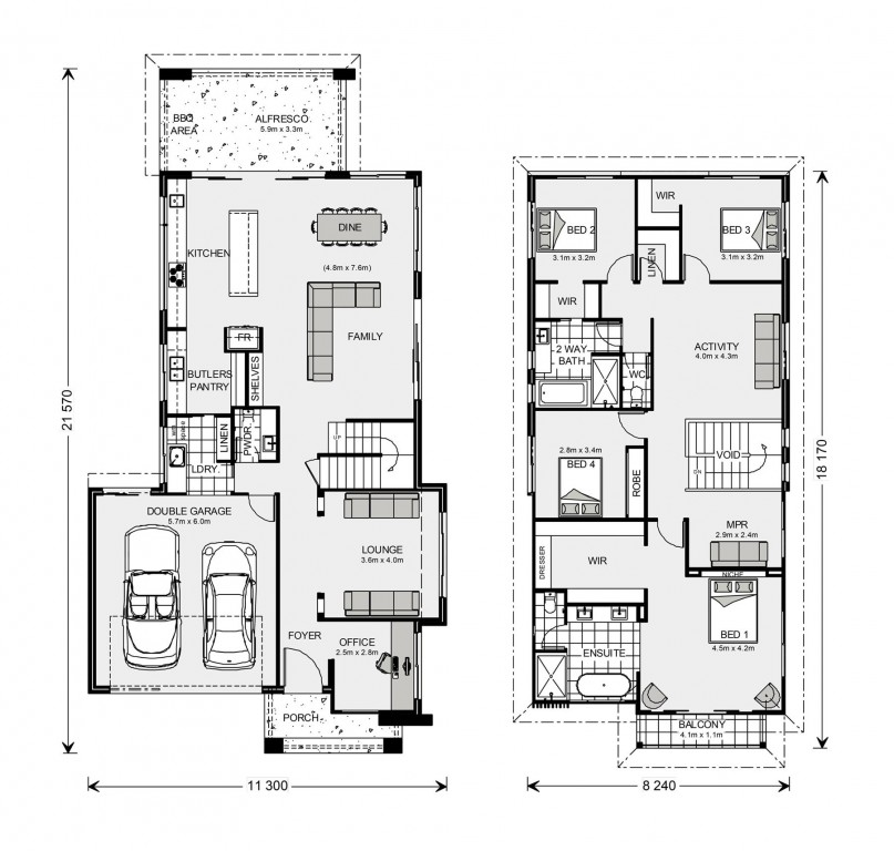 Kingscliff 324 - Element Series Floorplan