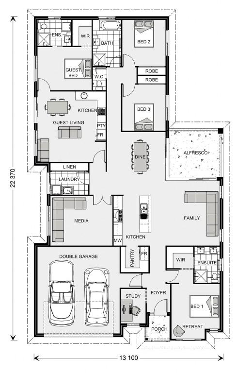 Coolum 225 plus Granny Flat - Dual Living Series Floorplan