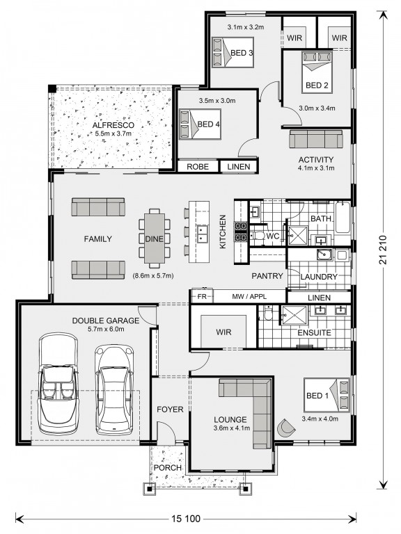 Glenview 260 - Element Series Floorplan