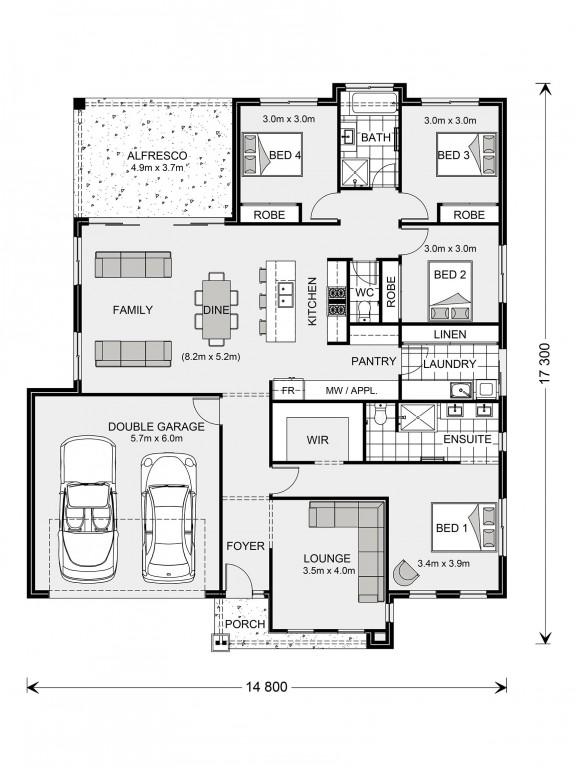 Glenview 225 - Element Series Floorplan
