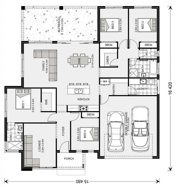 Wide Bay NQ 225 Floorplan