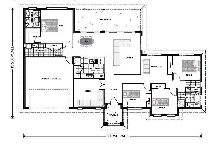 Rosedale 200 - Estate Series Floorplan