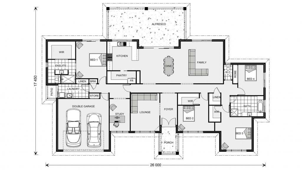 Caspian 347 - Estate Series Floorplan