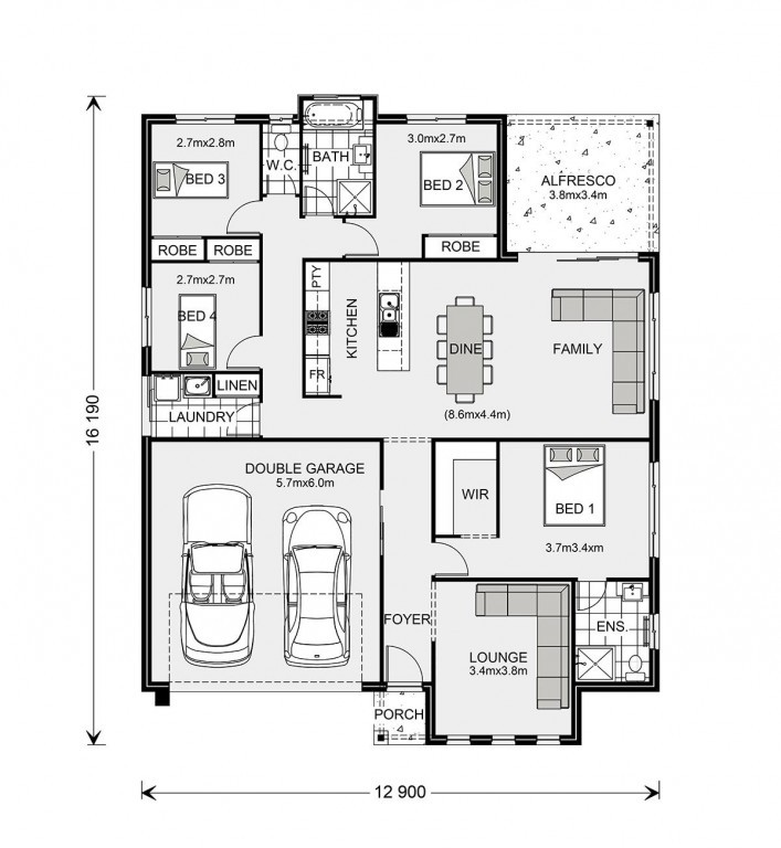 Fernbank 194 - Element Series Floorplan