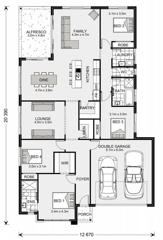 Malibu 225 Floorplan