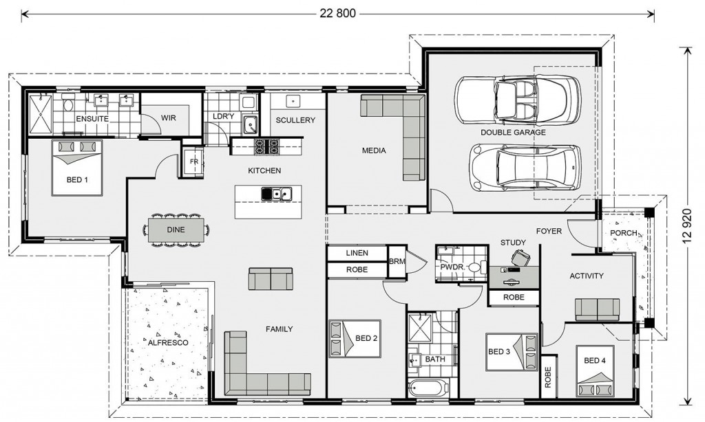 Edgewater 242 - Element Series Floorplan