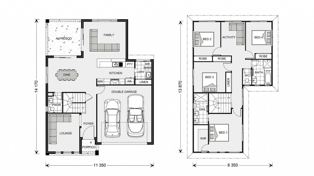 Blue Water 238 - Element Series Floorplan