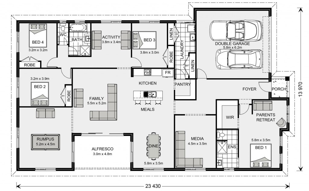 Springbrook 300 Floorplan
