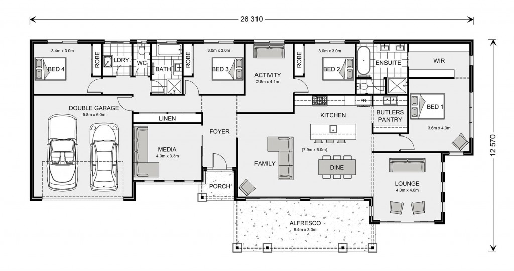 Palm Cove Estate 275 - Estate Series Floorplan