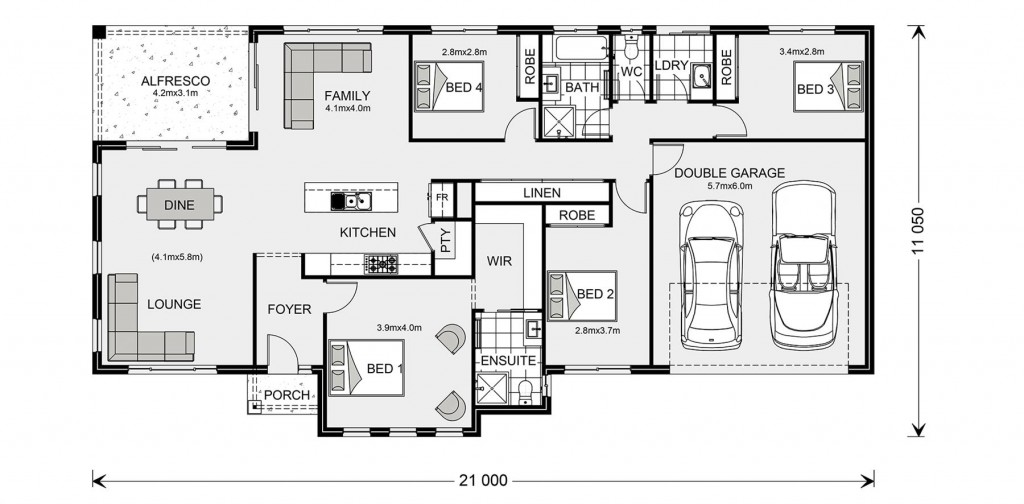 Rothbury Estate 208 - Estate Series Floorplan