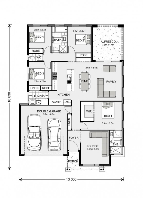 Vista 211 - Element Series Floorplan