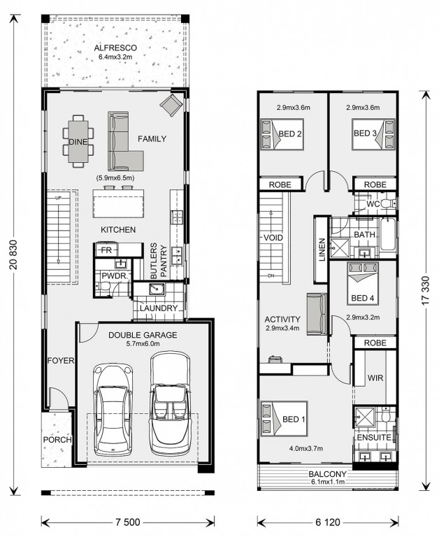 Pine Rivers 239 - Metro Series Floorplan