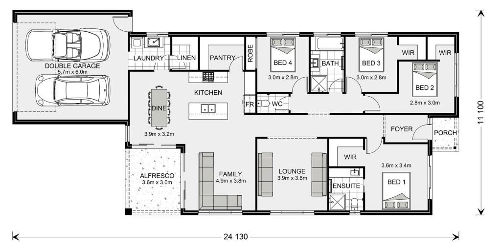 Edgewater Rear Lane - Rear Lane Series Floorplan