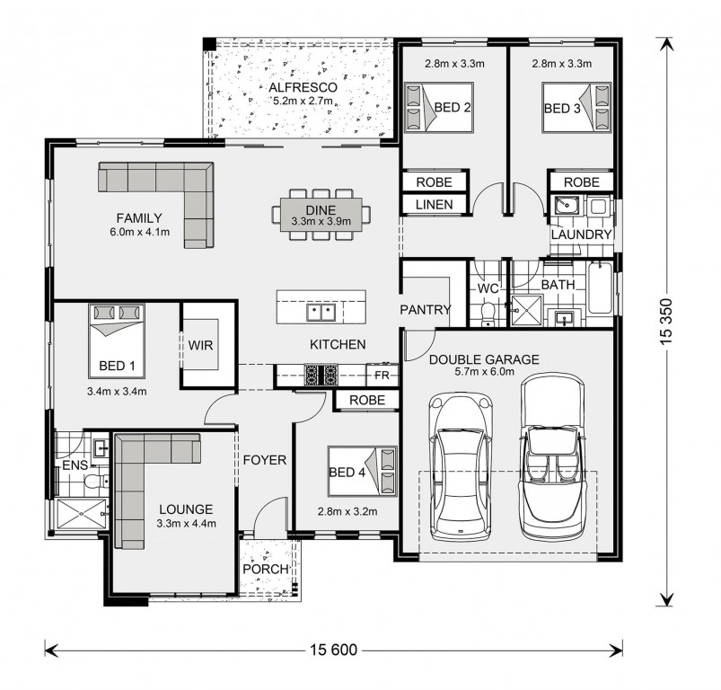 Wide Bay 212 - Express Series Floorplan