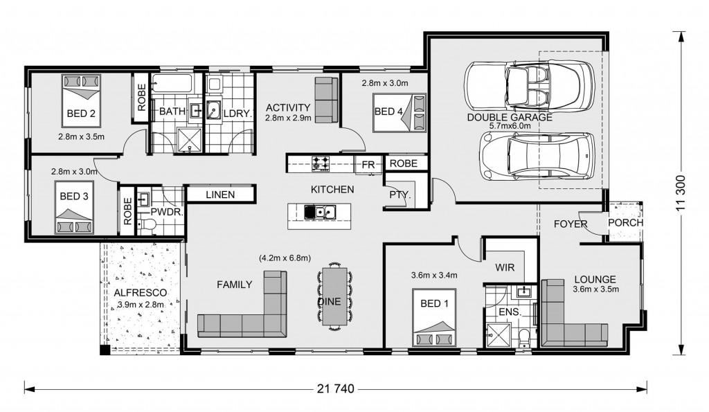 Claremont 210 - Element Series Floorplan
