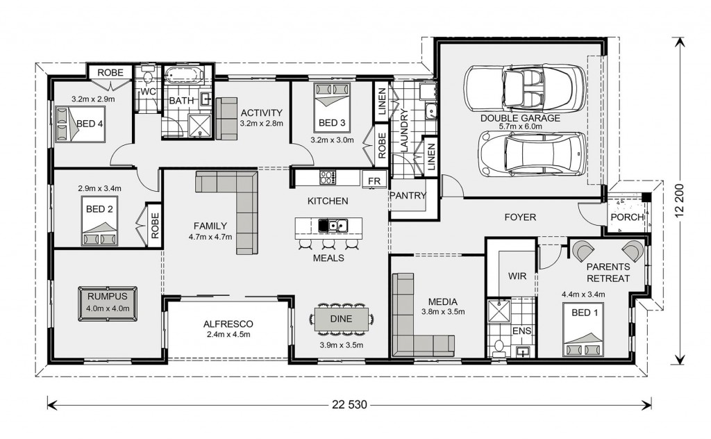 Springbrook 246 - Express Series Floorplan