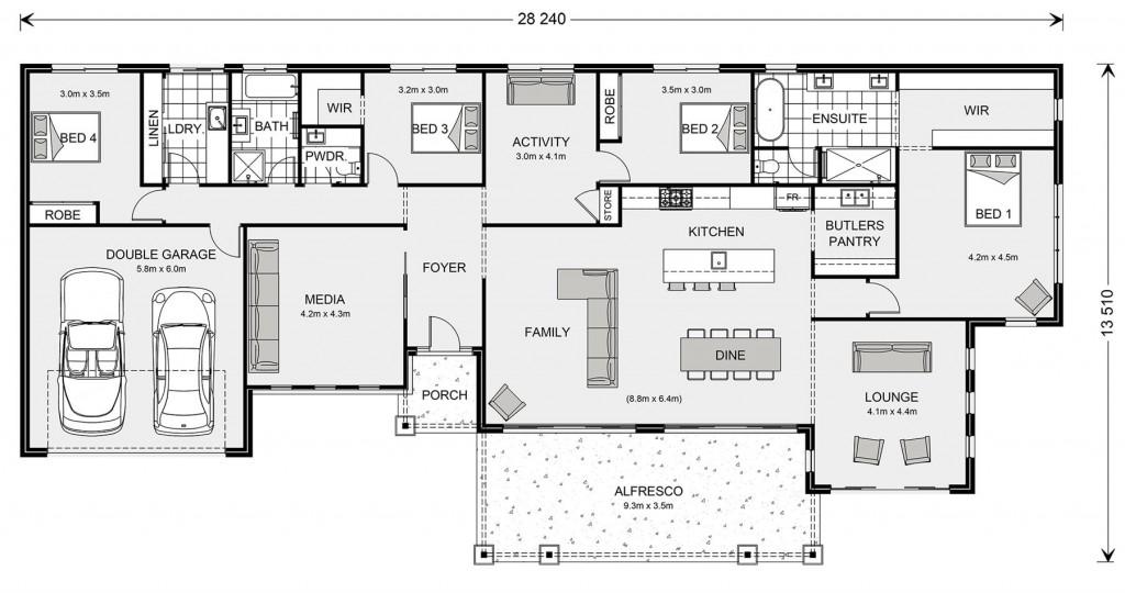 Palm Cove Estate 315 - Estate Series Floorplan