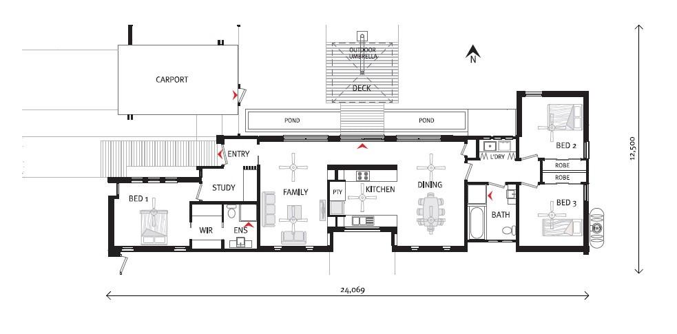 Bingara 160 - Metro Series Floorplan
