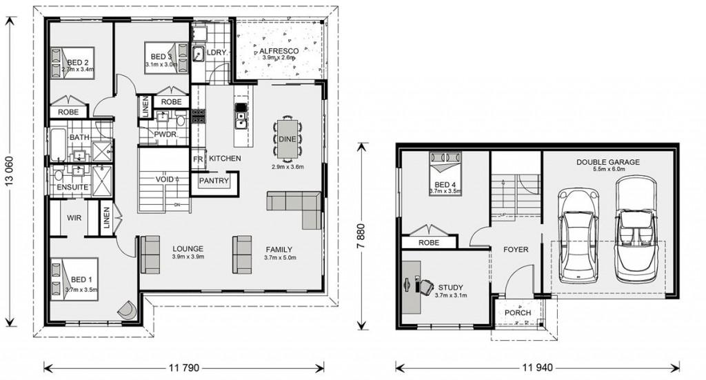 Windsor SL 233 - Split Level Series Floorplan