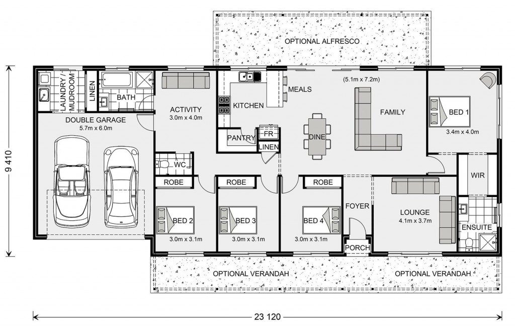 Yarraman 213 - Homestead Series Floorplan